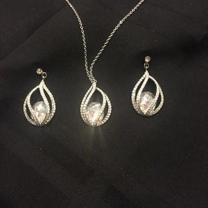 Jewelry - Swarovski Earrings and Matching Necklace
